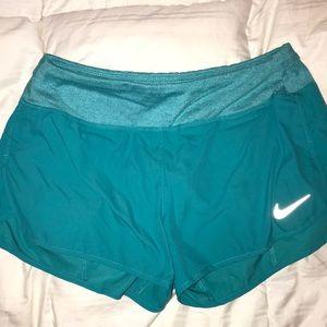 Teal Nike dri-fit athletic shorts